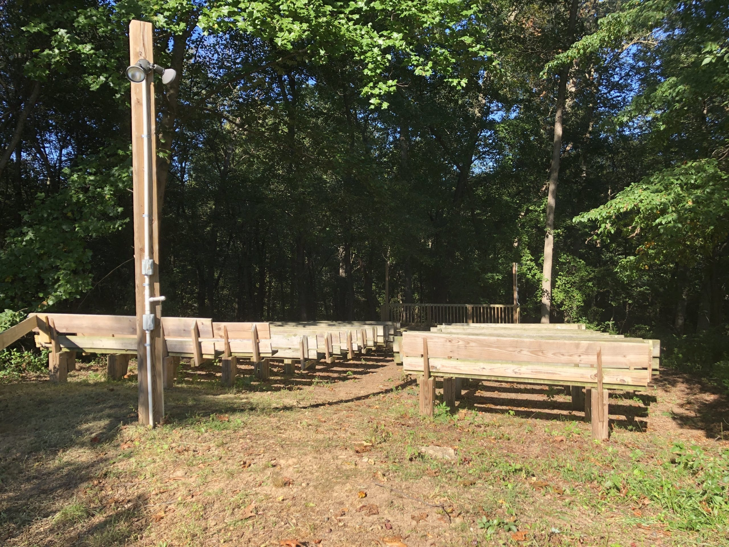 Amphitheater seating & stage