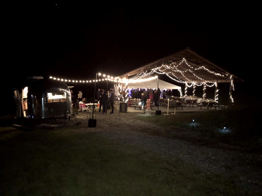 pavilion tent and food truck