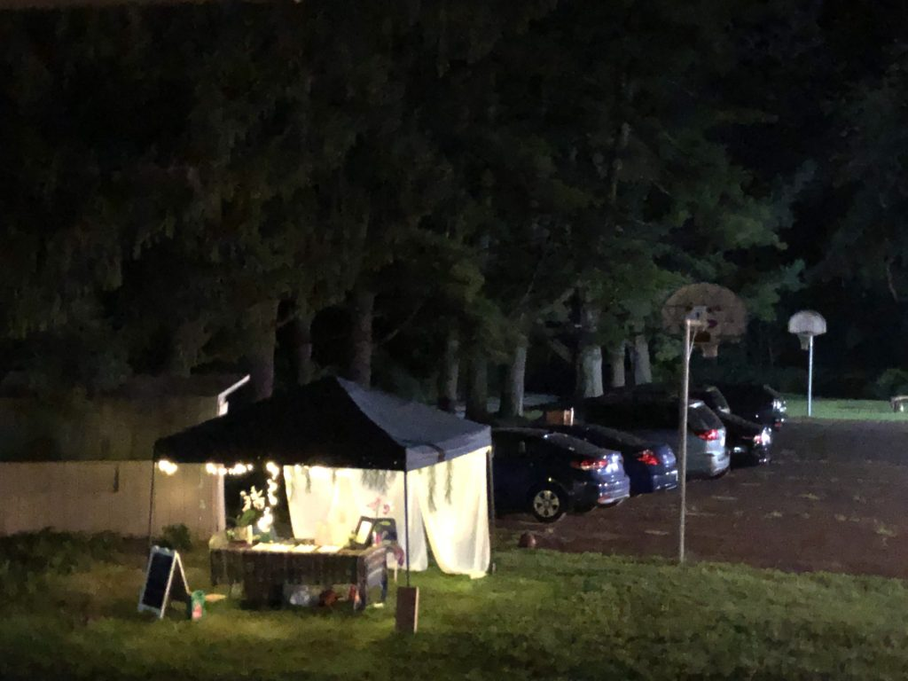 Welcome tent