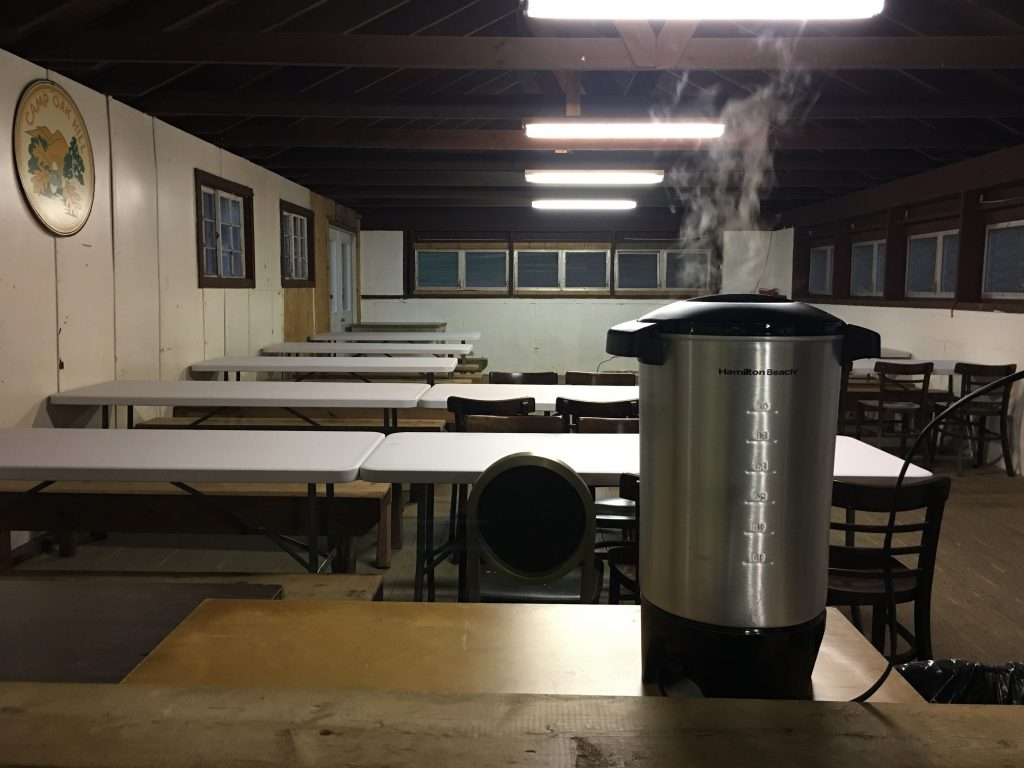 Dining Hall with coffee pot