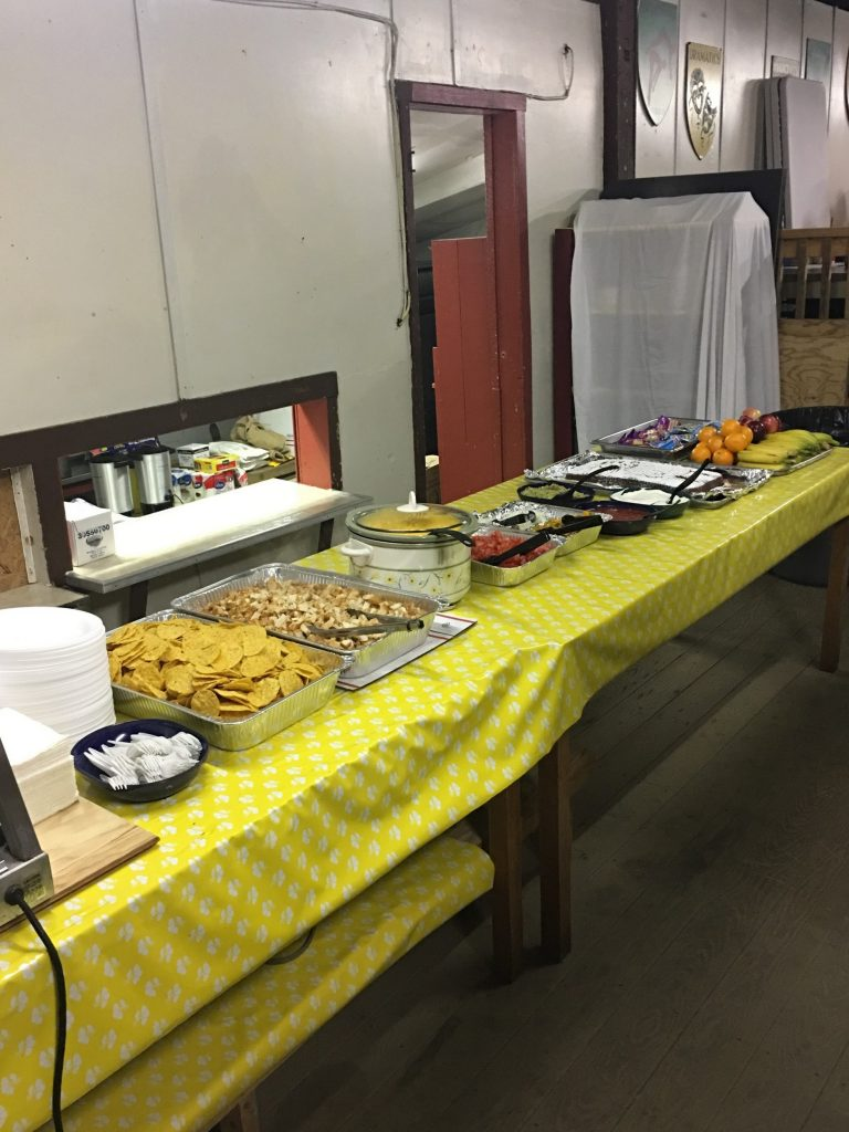Dining Hall serving table