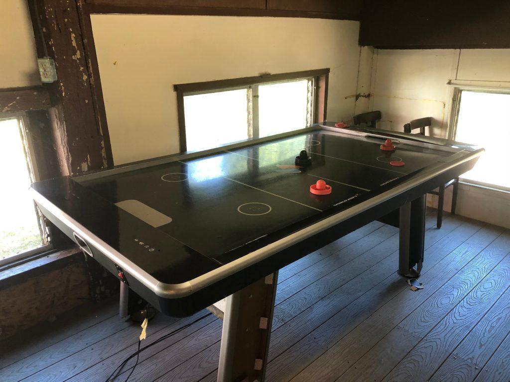 Dining Hall air hockey table