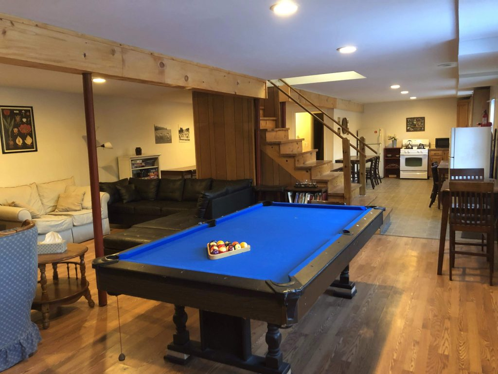 Lodge lower level pool table