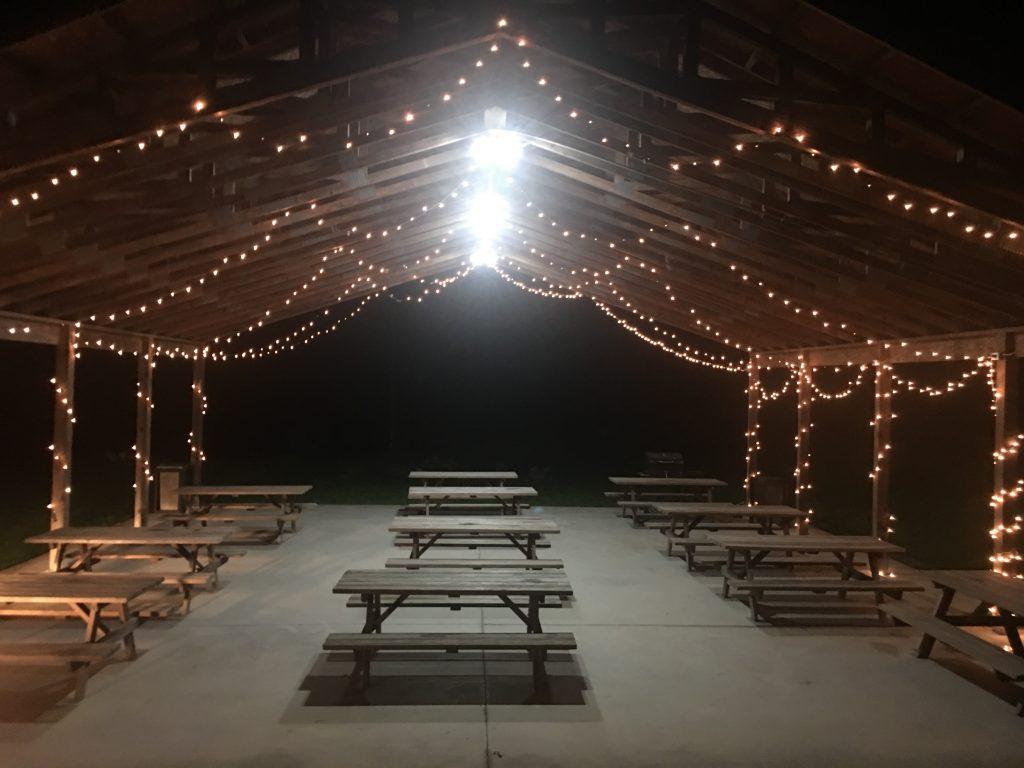 Lighted pavilion