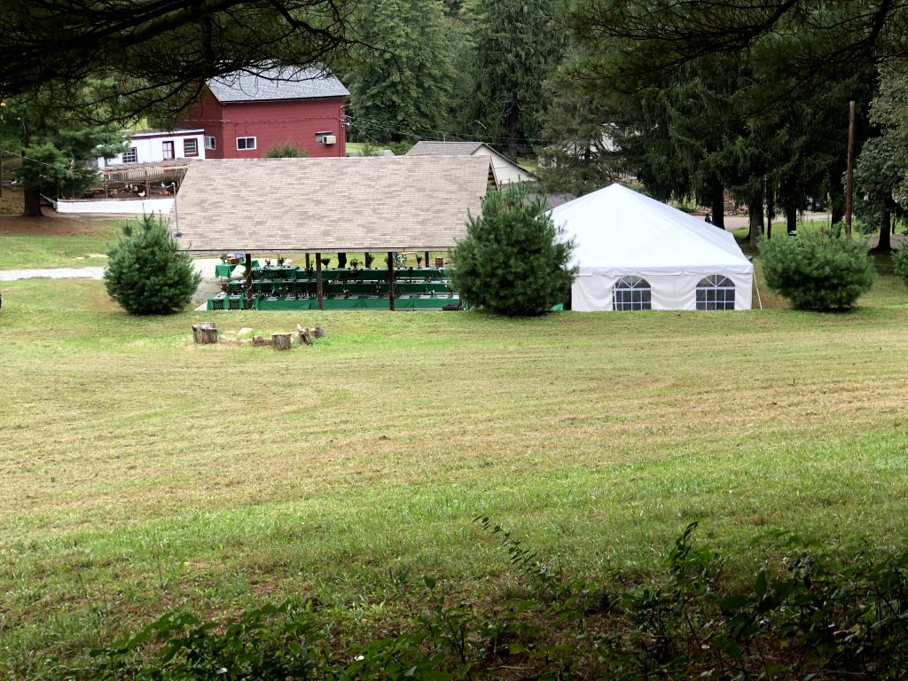 Pavilion with 30' x 30' tent